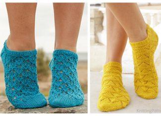 Knit Lace Ankle Socks Free Knitting Patterns
