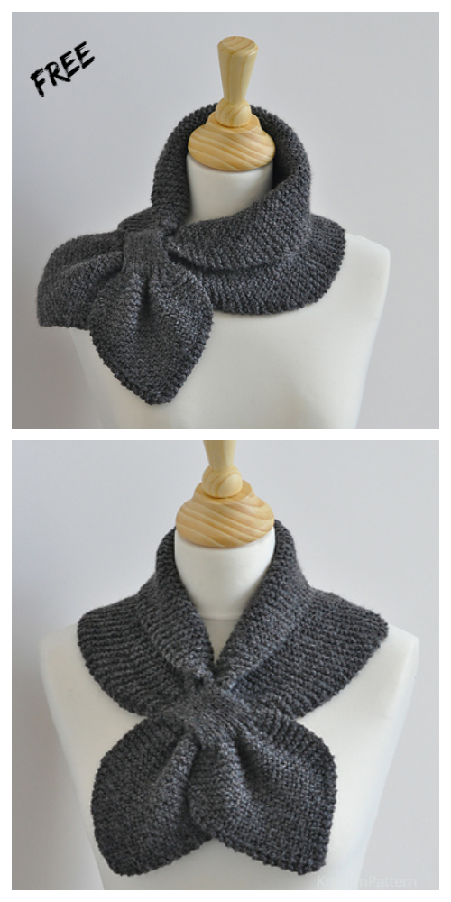 Knit MissMarple Leaf Neck Scarf Free Knitting Pattern