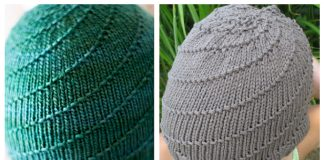 Knit Swirl Beanie Hat Free Knitting Patterns