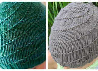 Knit Swirl Beanie Hat Free Knitting Patterns
