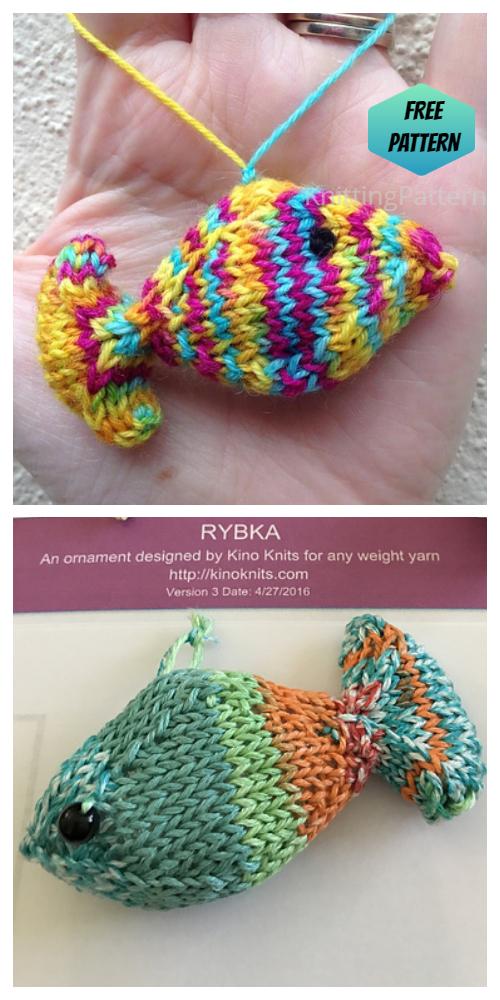 Knit Toy GoldFish Free Knitting Patterns