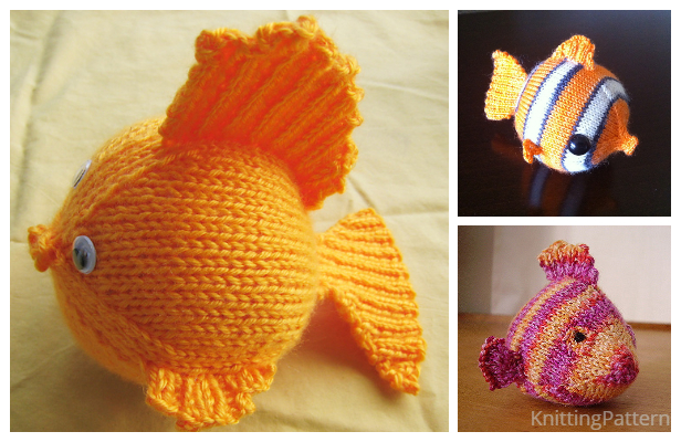 Knit Toy Fish Free Knitting Patterns