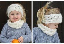 Girl Lace Headband + Cowl Set Free Knitting Pattern