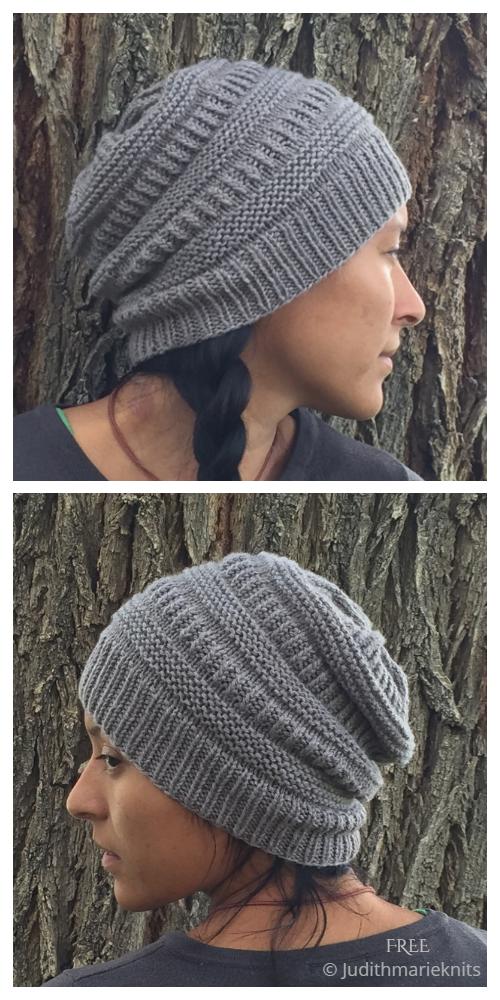 Koko Bean Hat Free Knitting Pattern