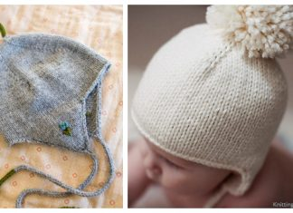 Easy Baby Earflap Hat Free Knitting Patterns