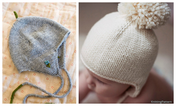 Easy Baby Earflap Hat Free Knitting Patterns - Knitting ...