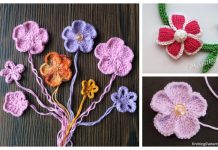 Knit 5-Petal Flower Free Knitting Patterns