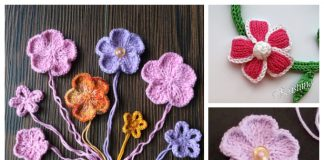 Knit 5-Petal Flower Free Knitting Patterns