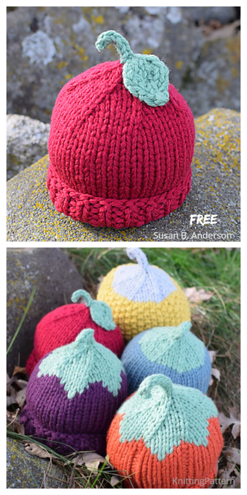 Knit Chunky Harvest Hats Free Knitting Patterns