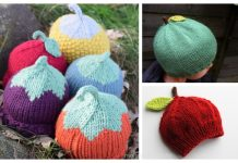 Knit Apple Hat Free Knitting Patterns