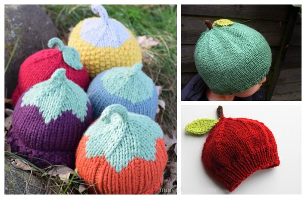 Knit Apple Hat Free Knitting Patterns - Knitting Pattern
