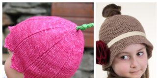 Knit Bell Flower Baby Hat Free Knitting Patterns