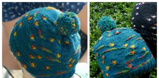 Knit Dandelion Hat Free Knitting Pattern
