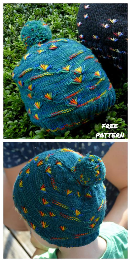 Knit Dandelion Hat Free Knitting Pattern