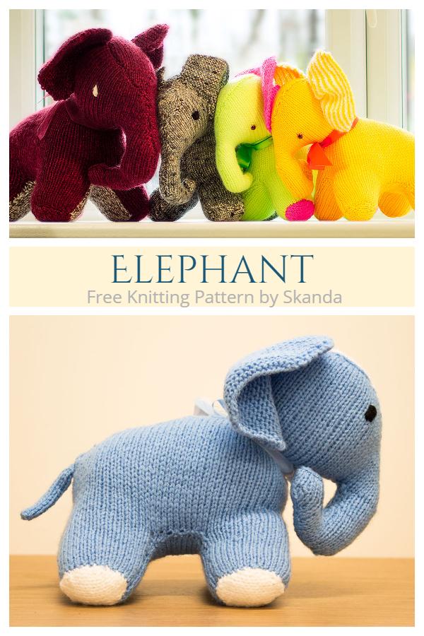 Knit Elephant Toy Free Knitting Patterns