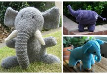 Knit Elephant Toy Free Knitting Patterns & Paid