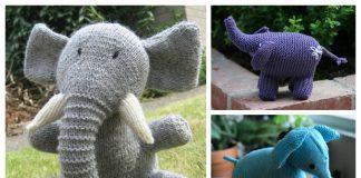 Knit Elephant Toy Free Knitting Patterns & Paid