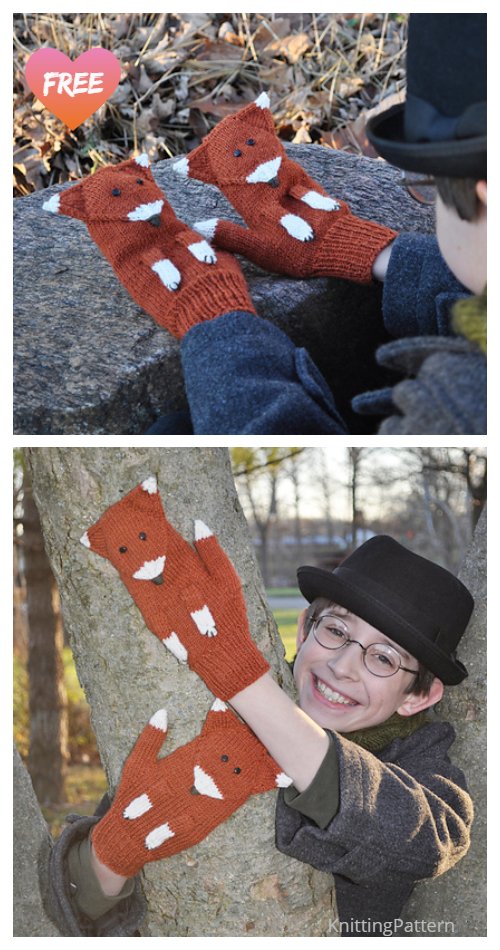 Knit The Fantastic Mittster Fox Mitts Free Knitting Patterns