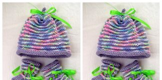 Knit Garter Ridged Baby Set Free Knitting Pattern