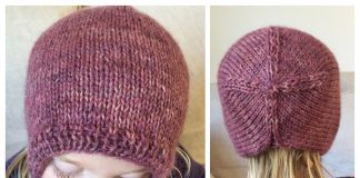 Knit Girls Bonnet Hat Free Knitting Pattern