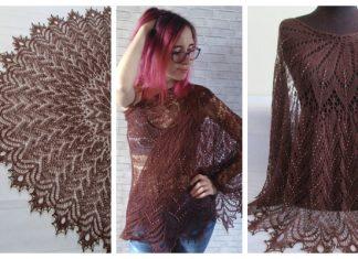 Knit Ice Cream Lace Shawl Free Knitting Patterns