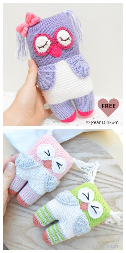 Knit Knot Forgotten Bear/Owl Free Knitting Patterns