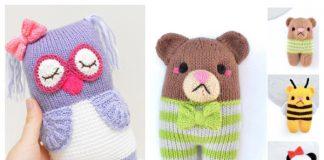 Knit Knot Forgotten Bear/Owl Free Knitting Patterns