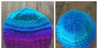 Knit Mix Stitch Hat Free Knitting Patterns