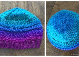 Knit Mix Stitch Hat Free Knitting Patterns