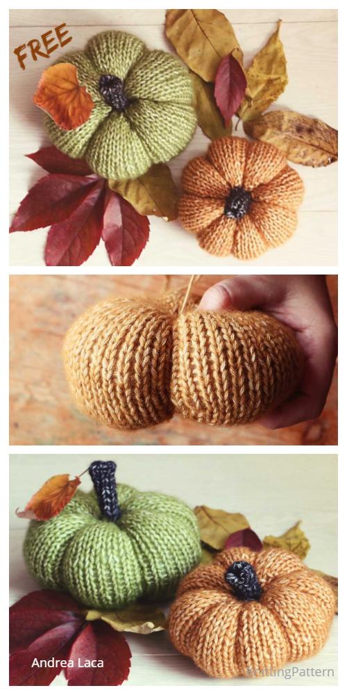 Halloween Knit Pumpkins Free Knitting Patterns