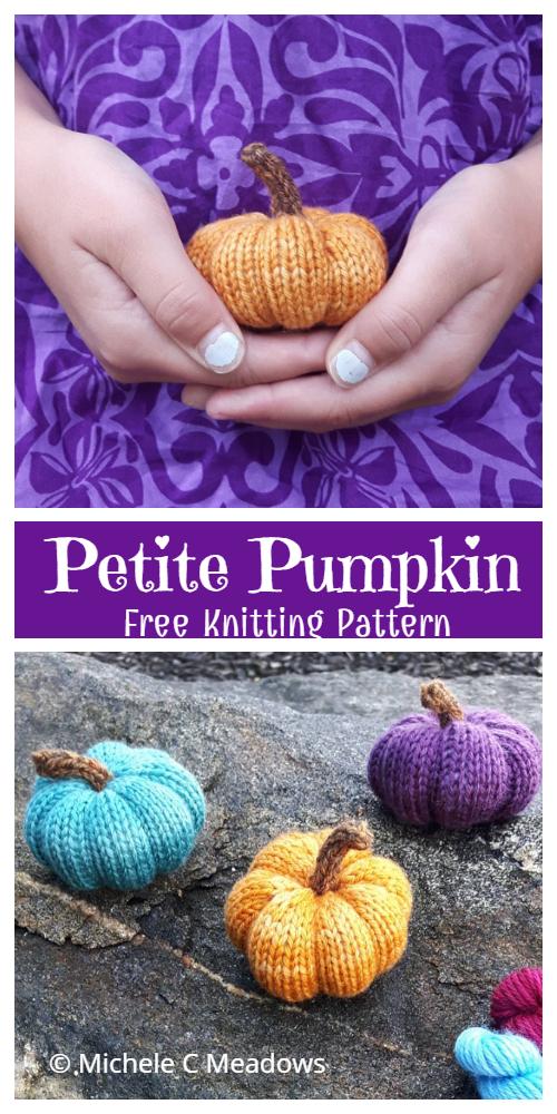 Amigurumi Petite Pumpkin Free Knitting Patterns
