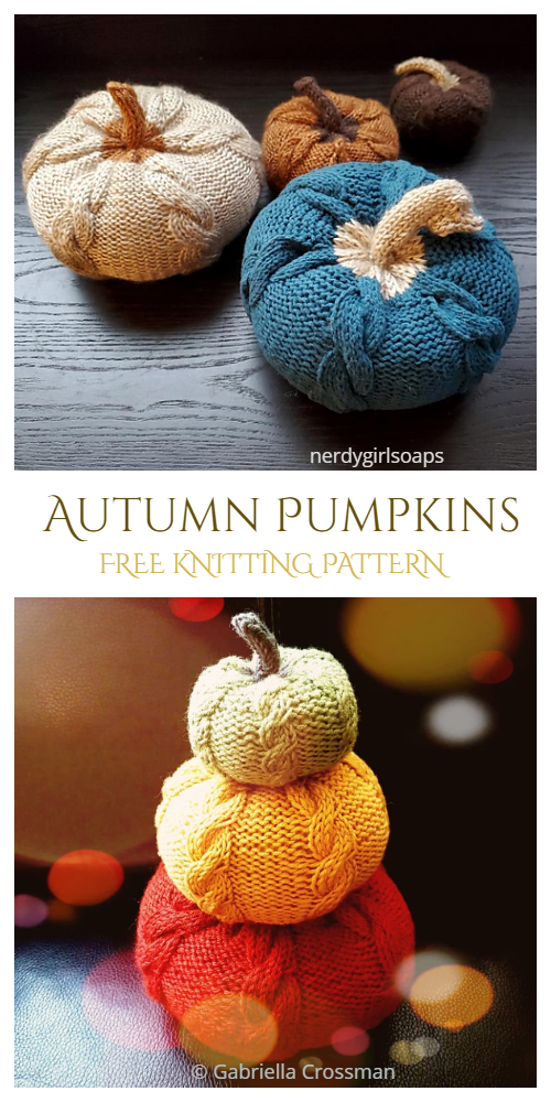 Autumn Pumpkins Free Knitting Patterns