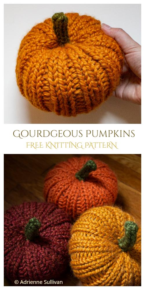 Knit Pumpkins Free Knitting Patterns - Knitting Pattern
