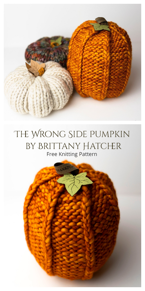 The Wrong Side Pumpkin Free Knitting Patterns