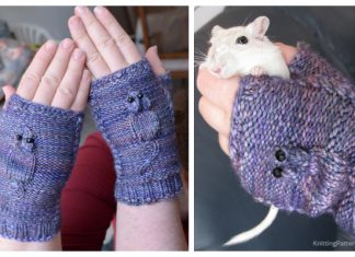 Knit Squeaky Mouse Mittens Free Knitting Pattern