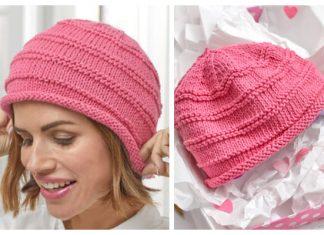 Knit Striped Soft Hat Free Knitting Pattern