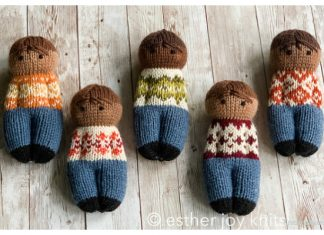 Knit Fairisle Friends Doll Free Knitting Pattern