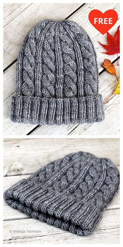 Jason's Cashmere Cable Hat Free Knitting Pattern