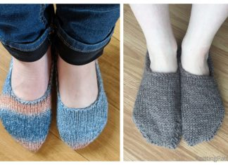 Knit Basic Sock Slippers Free Knitting Patterns