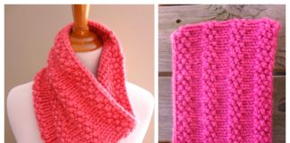 Knit Bubblegum Cowl Free Knitting Patterns