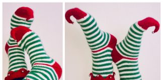 Knit Christmas Elf Socks Free Knitting Patterns