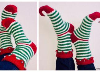 Knit Christmas Elf Socks Free Knitting Patterns