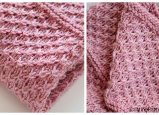 Knit Drops of Love Baby Blanket Free Knitting Pattern