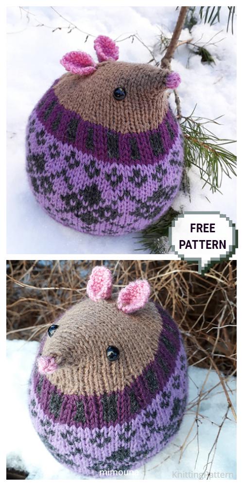 Knit Harold Fairisle Fat Mouse Free Knitting Patterns