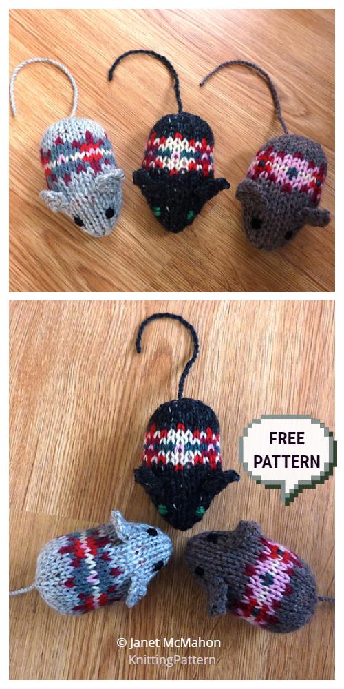 Knit Fair Isle Mice Free Knitting Patterns