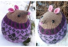 Knit Fairisle Mouse Toy Free Knitting Patterns