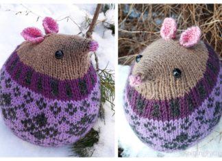 Knit Fairisle Mouse Toy Free Knitting Patterns