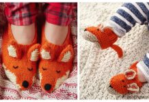 Knit Fox Slippers Free Knitting Patterns