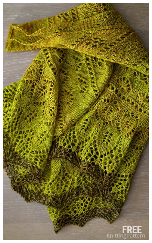 Knit Herbstblüte Lace Shawl Free Knitting Pattern