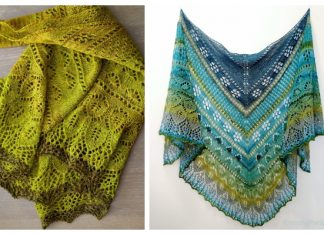 Knit Herbstblüte Lace Shawl Free Knitting Pattern